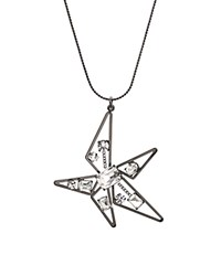 Rj Graziano Abstract Star Pendant Necklace 28 Silver