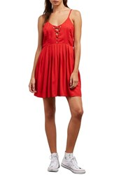 Volcom Cross Paths Sundress Red Rad