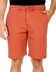 Lucky Brand Solid Blended Cotton Shorts Marsala
