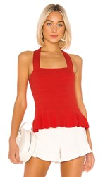 Parker Veda Knit Top In Red. Flare
