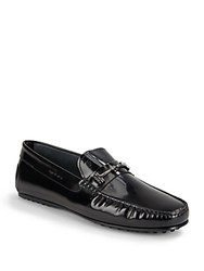 Tod's Doppia Patent Bit Loafers Black
