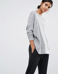 Y.A.S Jenna Wrap Top Grey Melange