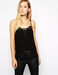 Whistles Amos Cami With Lace Insert