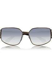 Lanvin Square Frame Metal And Acetate Sunglasses