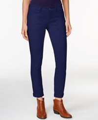 American Living Straight Leg Twill Ankle Pants Only At Macy's Capri Navy