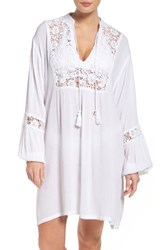 Muche Et Muchette Women's Journey Lace Cover Up Tunic White