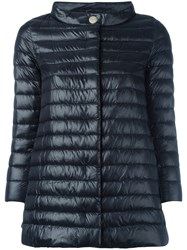 Herno Straight Collar Padded Jacket Black
