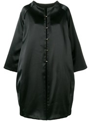 Gianluca Capannolo Oversized Single Breasted Coat Black