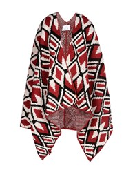 George J. Love Coats And Jackets Capes And Ponchos Brick Red