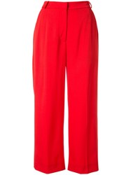 Markus Lupfer Marley Cropped Trousers Red