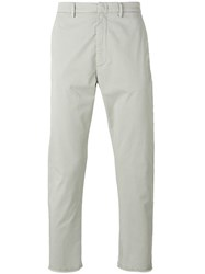 Pence Frayed Hem Trousers Grey