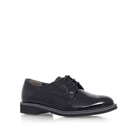 Paul Green Stephanie Flat Leather Formal Brogues Black