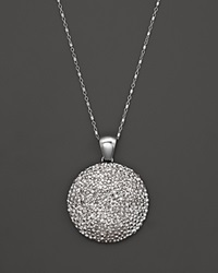 Roberto Coin Sterling Silver Stingray Large Disc Pendant Necklace 17