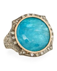 Armenta New World Two Tone Apatite Doublet Ring Silver