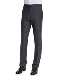 Tom Ford O'connor Base Flat Front Sharkskin Trousers Light Gray Light Grey