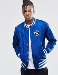 Aape By A Bathing Ape Reversible Baseball Jacket Blue