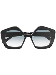 Marni Oversized Frame Sunglasses Black