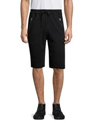 3.1 Phillip Lim French Terry Cotton Shorts Black