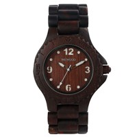 Wewood Kale Wood Watch Chocolate White