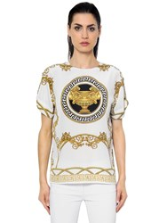 Versace Iconic Printed Twill Silk Top