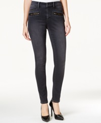 Nydj Alina Zipper Pocket Skinny Jeans Sitka Wash