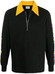 Sss World Corp Contrast Collar Polo Shirt Black