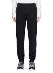 Lanvin Zip Pocket Bonded Jersey Sweatpants Black