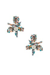 Lele Sadoughi Crystal Lily Clip On Earring Blue