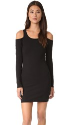 Chaser Cold Shoulder Mini Dress Black