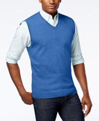 Club Room Men's Sweater Vest Only At Macy's Palace Blue