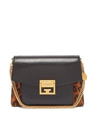 Givenchy Gv3 Mini Suede And Leather Cross Body Bag Leopard