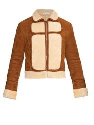 J.W.Anderson Curve Panel Shearling Aviator Jacket