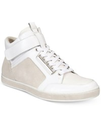 Kenneth Cole New York Men's Brandy High Top Sneakers Men's Shoes White