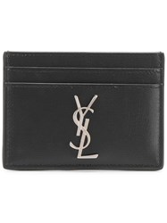 Saint Laurent Monogram Card Case Black