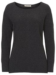 Betty Barclay Chevron Ribbed Jumper Dark Grey Melange