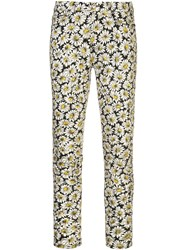 7 For All Mankind Floral Print Jeans White