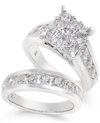 Macy's Diamond Bridal Set 4 Ct. T.W. In 14K White Gold
