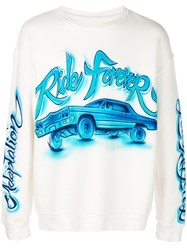 Adaptation Ride Forever Sweatshirt White