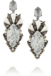 Erickson Beamon Weeping Angel Gold Plated Swarovski Crystal Earrings Net A Porter.Com
