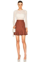 Veronica Beard Bex Crew Neck Combo Dress In White Brown White Brown