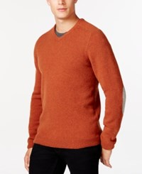 Tasso Elba V Neck Sweater Only At Macy's Rust Neps