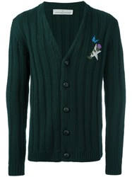 Golden Goose Deluxe Brand Ribbed Cardigan Green