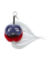 Fendi Qutweet Ball Monster Beak Fur Charm For Handbag Purple Red Black Purple Red Black