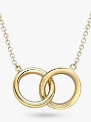 Ibb 9Ct Gold Linked Ring Pendant Necklace Gold