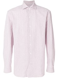 Doppiaa Long Sleeved Shirt Pink And Purple
