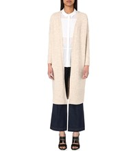 Whistles Longline Knitted Wool Blend Cardigan