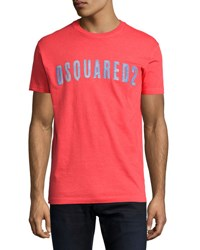 Dsquared Faded Logo Graphic T Shirt Red