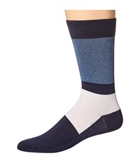 Lacoste Color Blocked Sock Navy Blue Philippines Blue White Men's Crew Cut Socks Shoes Multi