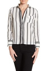 Lucca Couture Stripe Long Sleeve Shirt Multi