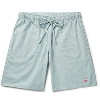 Battenwear Active Lazy Linen And Cotton Blend Drawstring Shorts Sky Blue